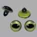 Глазки кошачьи пластиковые на ножке, цвет зеленый, 8 мм, 4 шт., EFCO