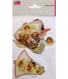 """Высечка для скрапбукинга """"Ангелочки и пасхальный колокольчик"""", 17 шт.,EFCO (Германия)"""