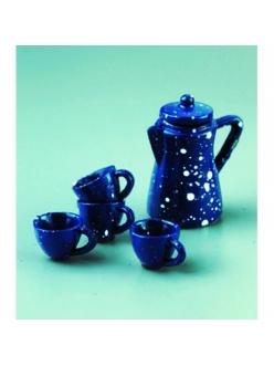 Декоративные миниатюрные предметы Чайный сервиз, фаянс, 1-2 см и 5 см, EFCO (Германия)
