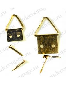 Крепление для рамок, табличек и панно, металлическая петля, 9 мм и 13 мм, 12 шт, EFCO