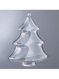 Заготовка Новогодняя елка, прозрачный пластик, 10 см, EFCO