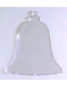 """Заготовка подвеска """"Колокольчик плоский"""", прозрачный пластик, 9 см, EFCO (Германия)"""