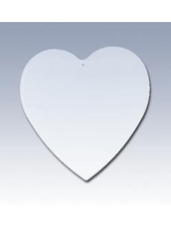 Подвеска Сердце плоское, прозрачный пластик, 9,5х10 см, EFCO