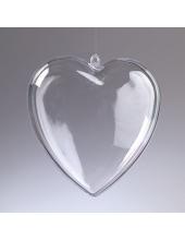 Заготовка сердце пластиковое разъемное, 10 см, EFCO (Германия)