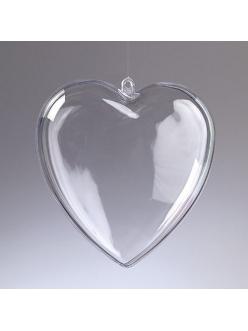 Заготовка сердце пластиковое разъемное, 10 см, EFCO