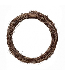 Заготовка венок декоративный плетеный, натуральная лоза 25 см, EFCO