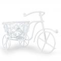 Миниатюрный Велосипед белый, металлический, 10х7 см