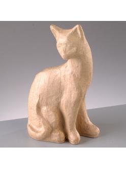 Заготовка фигурка из папье-маше Кошка 1, 11х6х19,5 см, EFCO