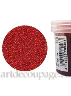 Микробисер прозрачный красный, 50г, EFCO Германия