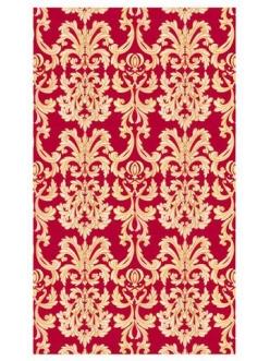 """Рисовая салфетка Esprimo APA Ferrario 541 """"Барокко, орнамент на красном фоне"""", 30х50 см, 10 г/м2"""