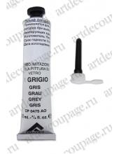 Контур акриловый по стеклу Piombo Imitazione Ferrario №01, цвет серый, 20 мл