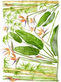 Декупажная карта Esprimo Ferrario № 17, Бамбук и цветы