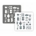 "Трафарет пластиковый Арт-модуль АМ-43 ""Посуда"" 15х15 см, Event Design"