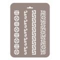 Трафарет Бордюры узкие БУз-07, 16х22 см, Event Design