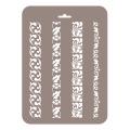 Трафарет Бордюры узкие БУз-12, 16х22 см, Event Design