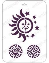 "Трафарет пластиковый EDBHT023 ""Солнце и луна"", 21х31 см, Event Design"