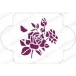 "Трафарет пластиковый EDDC001 ""Роза и бабочка"", 10х10 см, Event Design"