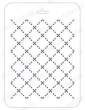Трафарет для фона EDFN013, Косая клетка, 16х22 см, Event Design