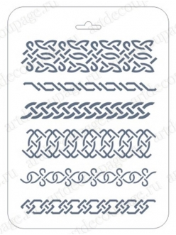 Трафарет Бордюры, 16х22 см, Event Design