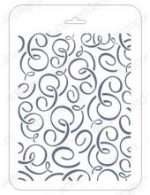 Трафарет для фона EDFN032, Завитки, 16х22 см, Event Design