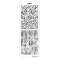Трафарет двойной для фона Сетка и завитки, Event Design, 11,5х32 см