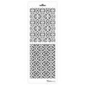 Трафарет двойной для фона Узорная решетка, Event Design, 11,5х32 см