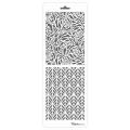 Трафарет двойной для фона Розы и листья, Event Design, 11,5х32 см
