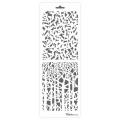 Трафарет двойной для фона Ветки деревьев, Event Design, 11,5х32 см