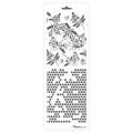 Трафарет двойной для фона Пчелы и соты, Event Design, 11,5х32 см