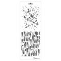 Трафарет двойной для фона Брызки и мазки краски, Event Design, 11,5х32 см