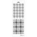 Трафарет двойной для фона Шотландка, Event Design, 11,5х32 см