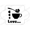 "Трафарет пластиковый EDMD053 ""Кофе Love"", 10х10 см, Event Design"