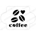 """Трафарет пластиковый EDMD054 """"Кофе"""", 10х10 см, Event Design"""