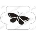 "Трафарет пластиковый EDMD081 ""Большая бабочка 2"", 10х10 см, Event Design"