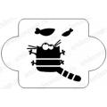 """Трафарет пластиковый EDMD089 """"Кот и рыбки"""", 10х10 см, Event Design"""