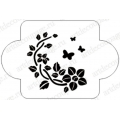 """Трафарет пластиковый EDMD123 """"Цветы и бабочки"""", 10х10 см, Event Design"""