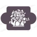 """Трафарет пластиковый EDMD156 """"Цветы в чайнике"""", 10х10 см, Event Design"""