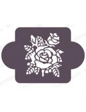 """Трафарет пластиковый EDMD159 """"Роза"""", 10х10 см, Event Design"""