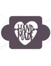"Трафарет пластиковый EDMD177 ""Сердце Hand Made"", 10х10 см, Event Design"