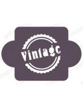 """Трафарет пластиковый EDMD179 """"Печать Vintage"""", 10х10 см, Event Design"""