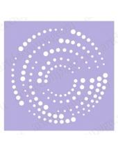 Трафарет маска фоновый МСК018 Спираль, Event Design, 15х15 см