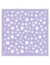 Трафарет маска фоновый МСК038 Звезды, Event Design, 15х15 см