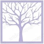 Трафарет маска фоновый EDMF074 Дерево, Event Design, 15х15 см