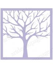 Трафарет маска фоновый МСК075 Дерево, Event Design, 15х15 см