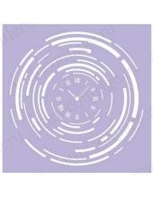 Трафарет маска фоновый МСК103 Часы, Event Design, 15х15 см