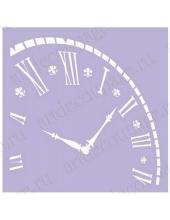 Трафарет маска фоновый МСК104 Часы, время, Event Design, 15х15 см