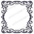 Трафарет маска фоновый EDMF127 Рамка с завитками, Event Design, 15х15 см