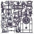 Трафарет маска фоновый EDMF130 Ретро, Event Design, 15х15 см