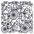 Трафарет маска фоновый EDMF131 Ретро велосипеды, Event Design, 15х15 см