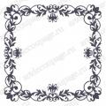Трафарет маска фоновый EDMF147 Рамка с завитками, Event Design, 15х15 см